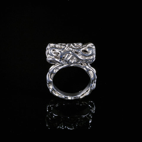 Eternity,Vine collection silver tube ring