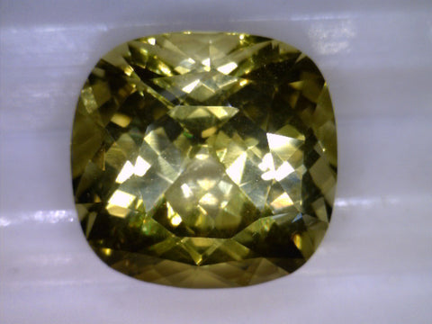 Yellow Chrysoberyl, Sri Lanka, cushion cut, 3.97cts
