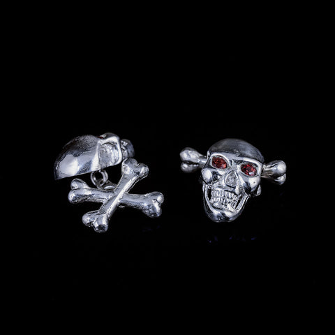 Evil genius cufflinks in sterling silver