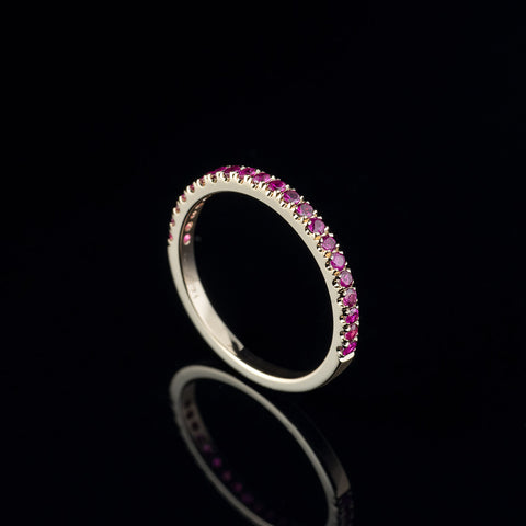 Ruby half eternity band