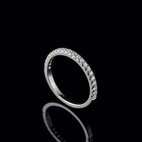 Diamond half eternity band