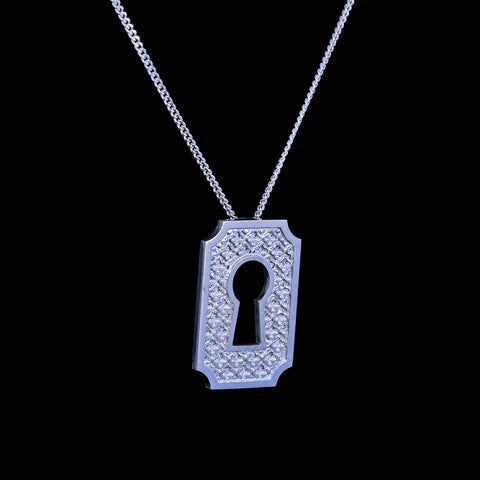 Hidden Treasures  A sterling silver lock pendant