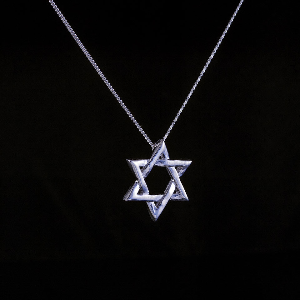 Sterling silver star of david pendant on an 18 inch chain sterling silver star of david pendant aloadofball Image collections