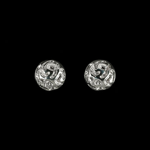 Etched sterling silver studs