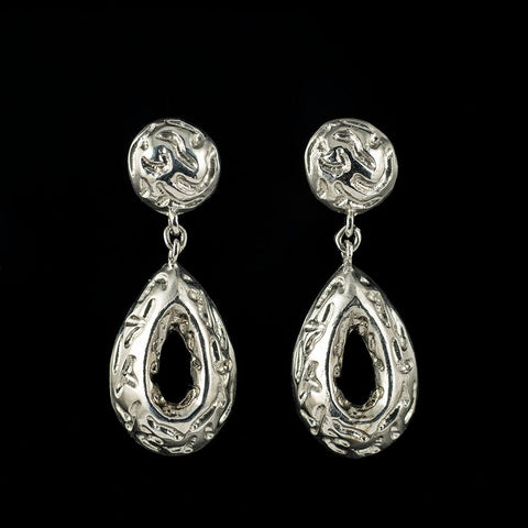 Byzantine inspired filigree earrings in sterling silver