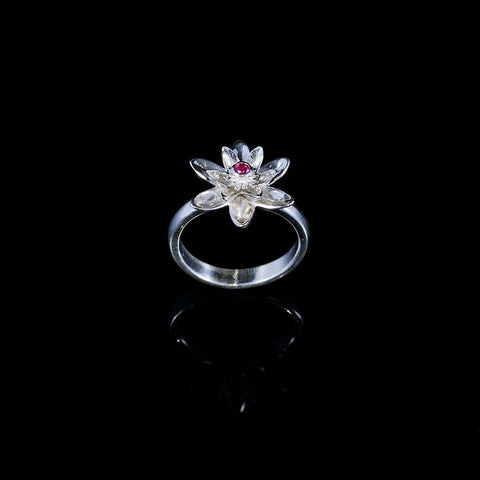 Gift of Enlightenment Lotus Flower Ring Pink
