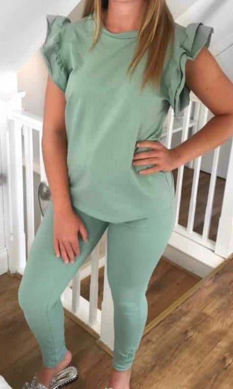 Frill Short Sleeve Loungewear Set - 4 Colours