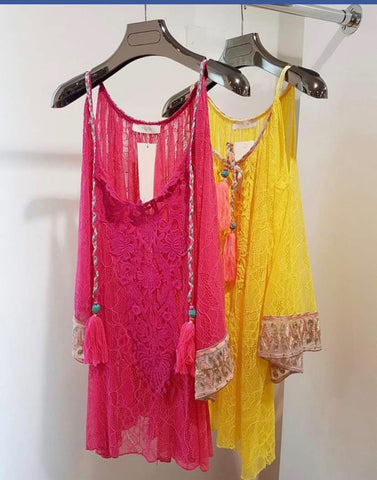 Lace Kaftan Top