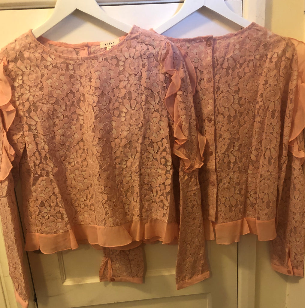Pink Flower Lace Top - Ruby Sky