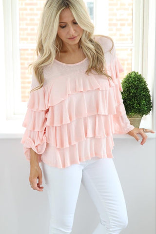 Ruffle Top - Ruby Sky