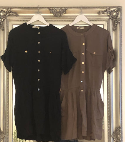 Army Button Up Dress