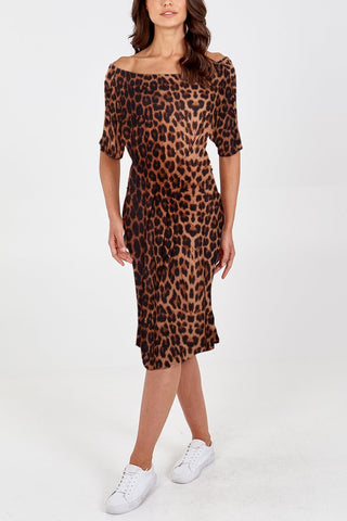 Leopard Parachute Dress - Ruby Sky