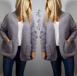 Chunky Knit Sparkle Cardigan - Ruby Sky