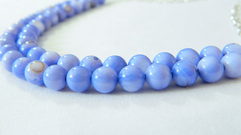 Blue Shell Bridal Necklace, something blue, blue wedding necklace, alternative bridal jewelry