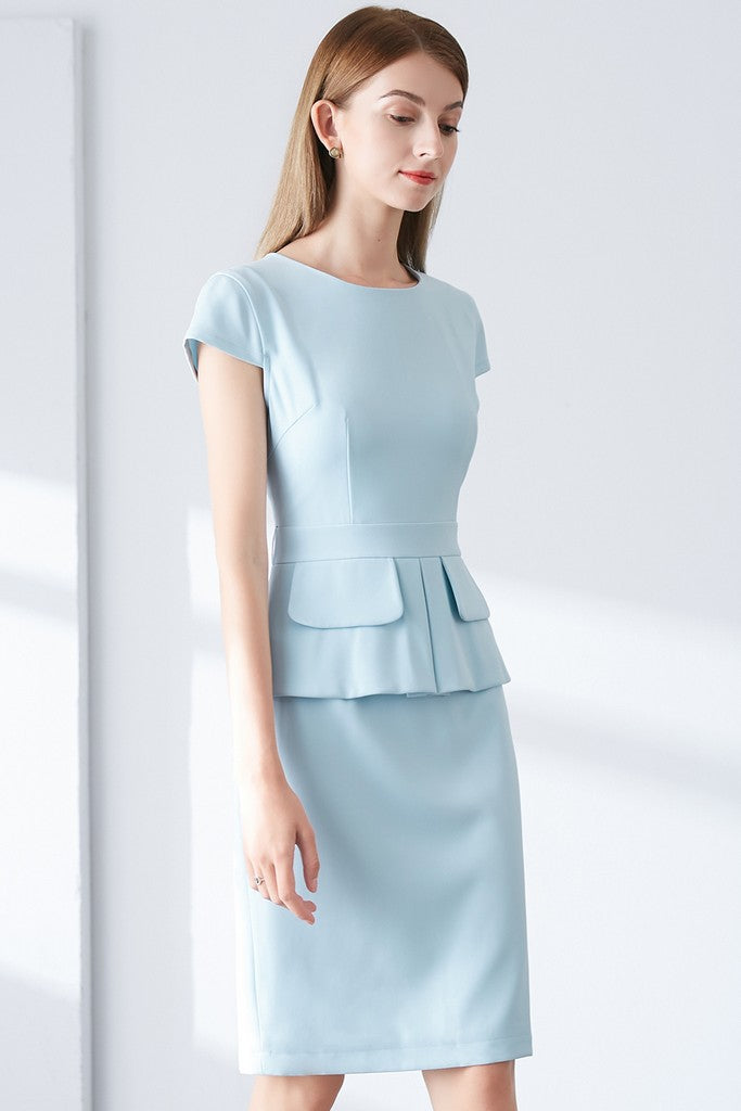 Light blue Office Dress