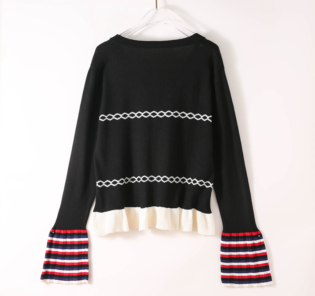 Black & White Jumper - Jumpers