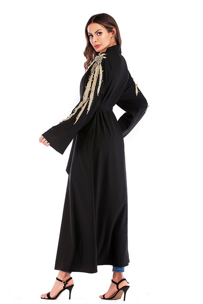 Black Day Cardigan with Belt - Cardigans