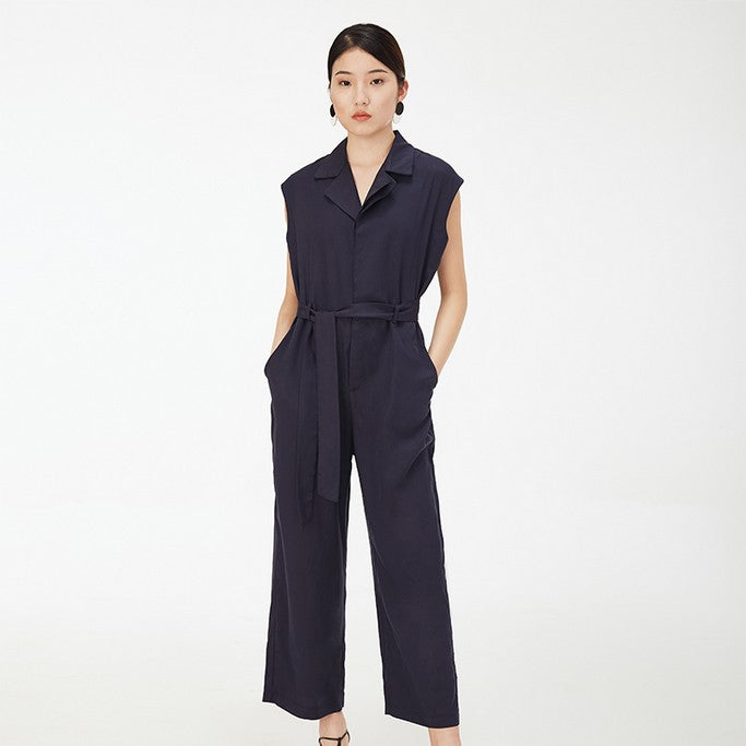 Navy Jumpsuit - Jumpsuits