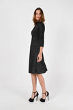 Evening A-line Bracelet Black Knee Elegant Dress - Dresses