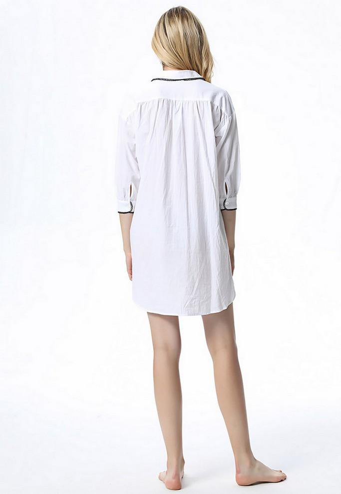 Short White Nightgown - Nightgowns