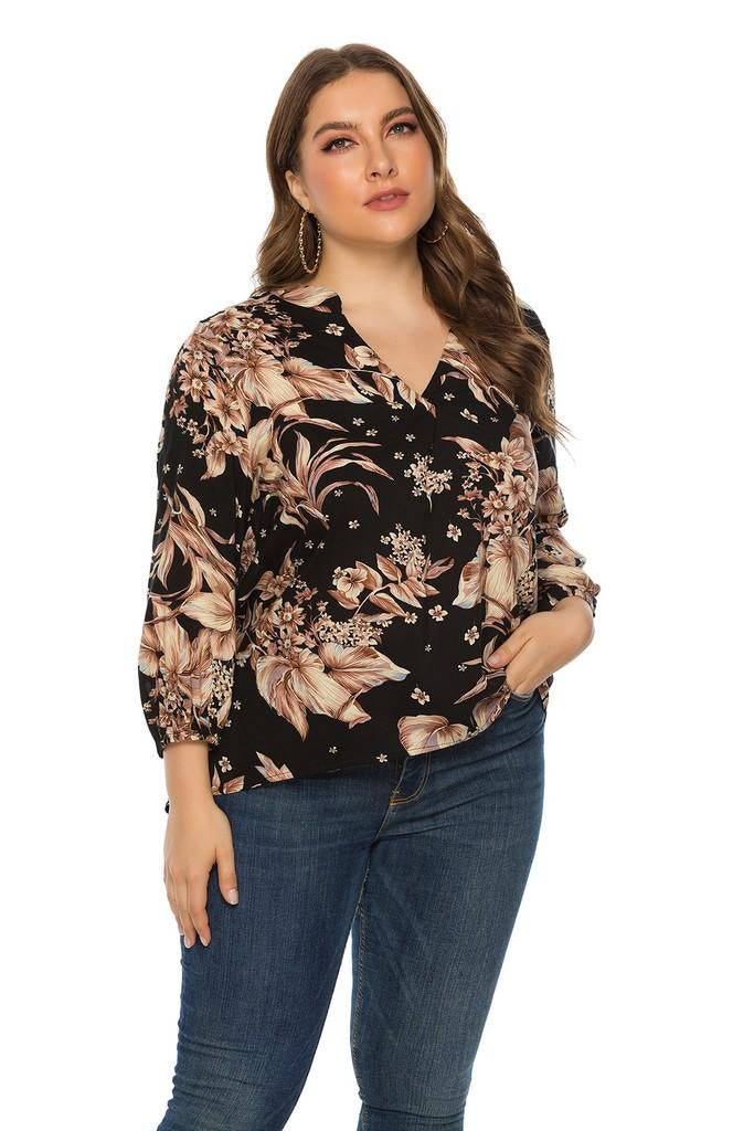 Printed Day Blouse - Blouses
