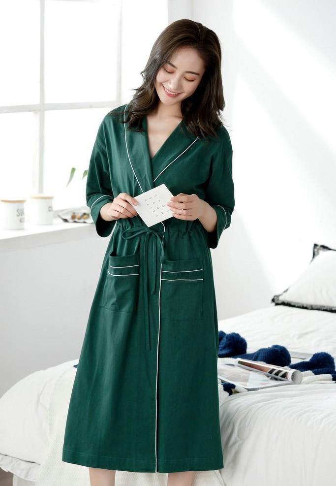 Green Bathrobe - Bathrobes