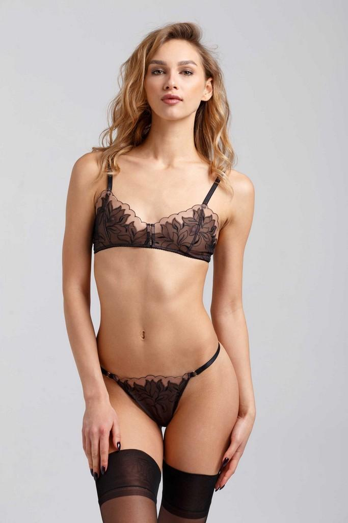 Black Laced Bra - Bras