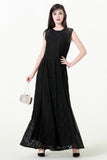 Black Evening Laced Dress - Dresses