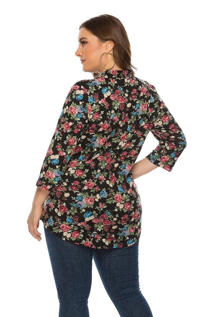 Printed Blouse - Blouses