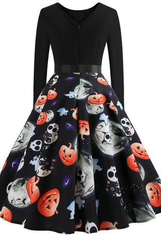 Black Halloween Party Dress - Dresses
