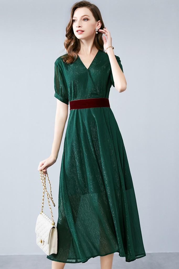 Green Dress - Dresses