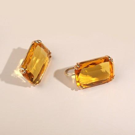 Gold & Yellow Earring - Earrings