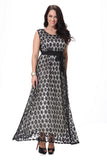 Black & White Evening Dress - Dresses