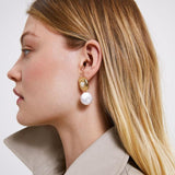 Gold & Pearl Earring - Earrings
