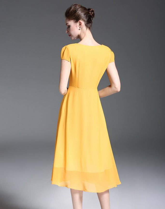Yellow Day Dress - Dresses