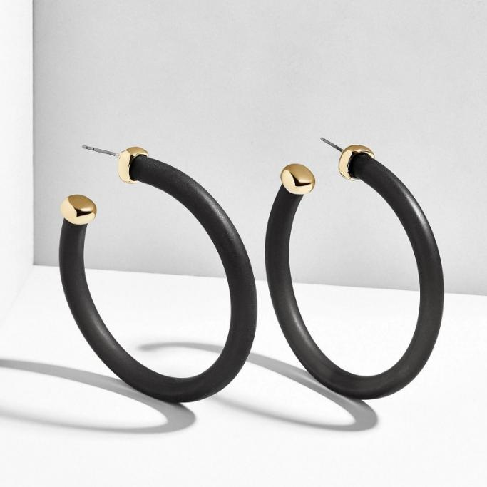 Gold & Black Earring - Earrings