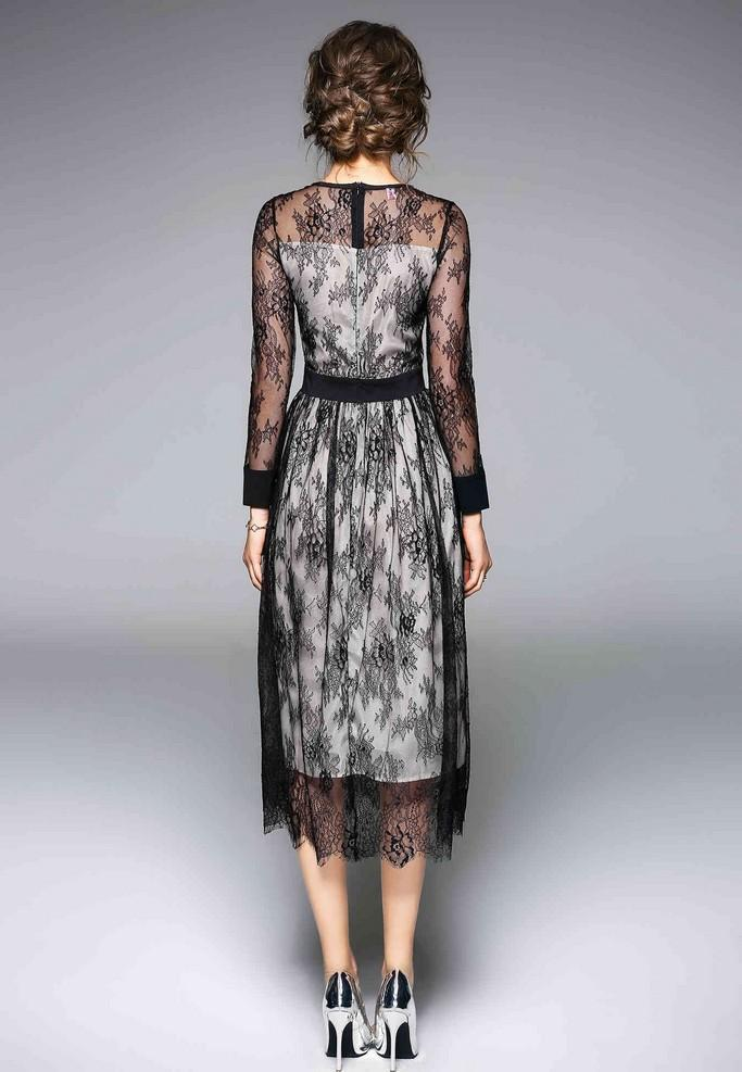 Laced Evening Dress - Dresses