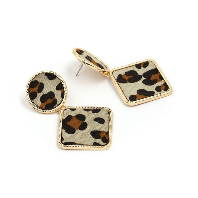 Leopard Print Earrings - Earrings