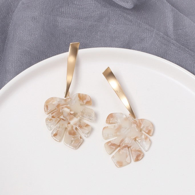 Tropical Leave Earrings - Earrings