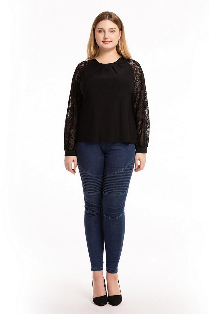 Casual Black Blouse - Blouses