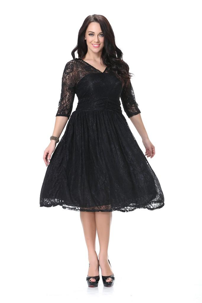 A-line Party Black Dress - Dresses