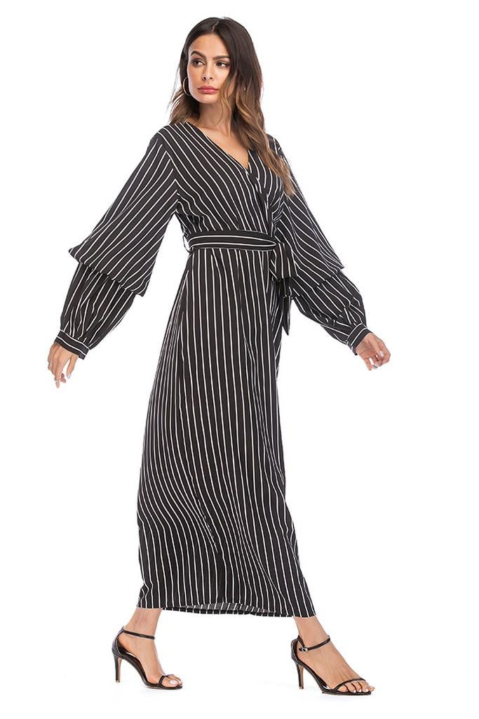 Striped Day Dress - Dresses