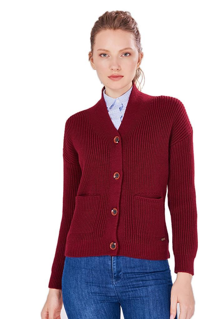 Cardigan with Buttons - Cardigans