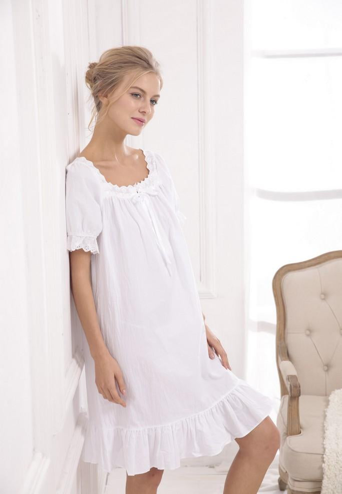 White Nightgown - Nightgowns