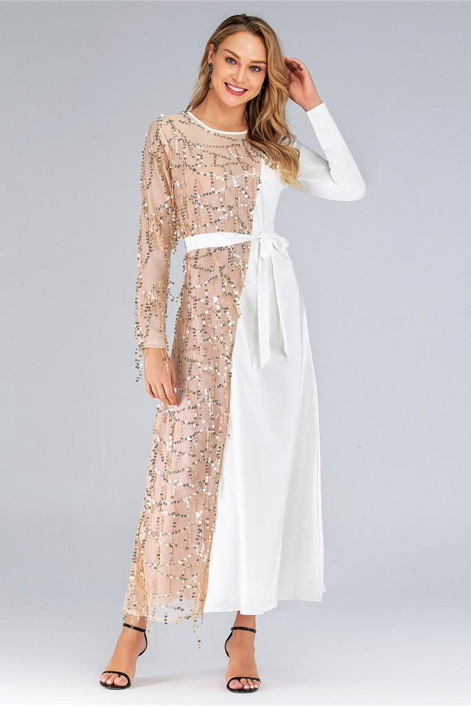 Day Dress with Belt - Dresses