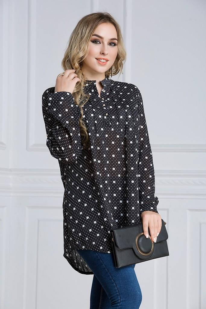 Black Day Printed Blouse - Blouses