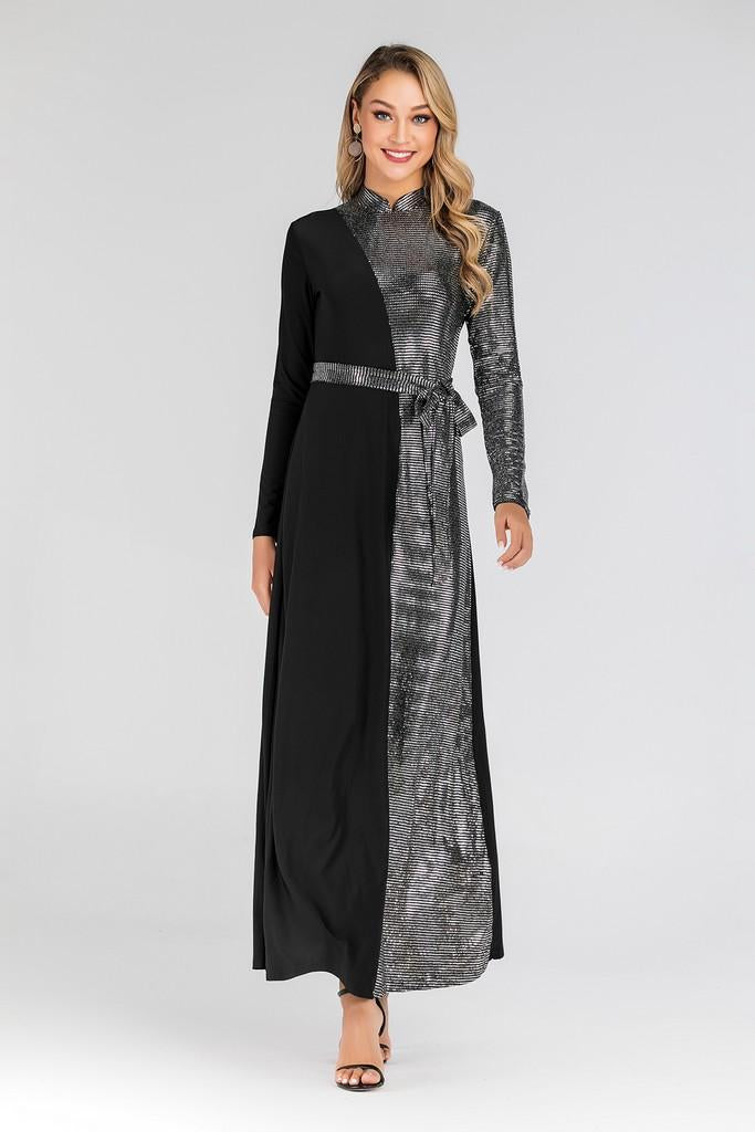 Black & Silver Day Dress - Dresses