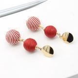 Multicolor Sphere Drop Earrings - Earrings
