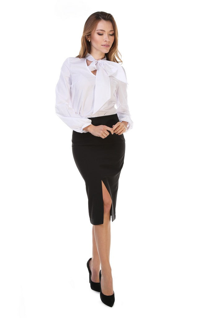 White Office Blouse