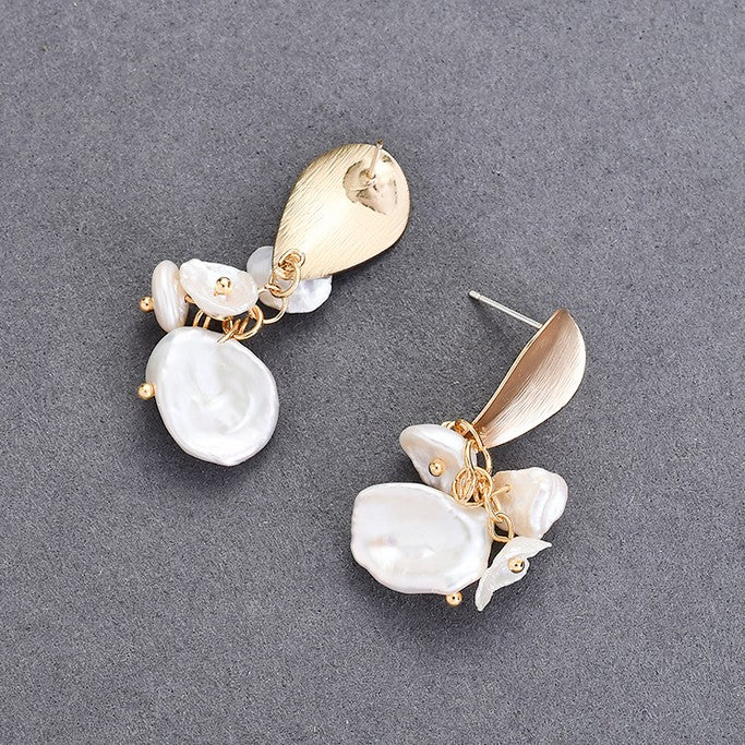 Shell Drop Earrings - Earrings